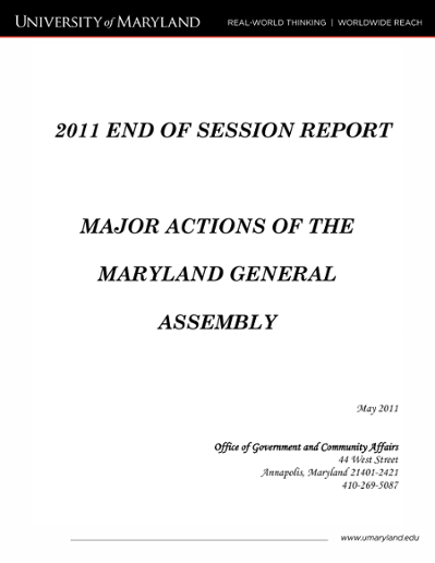 2011 End of Session Report