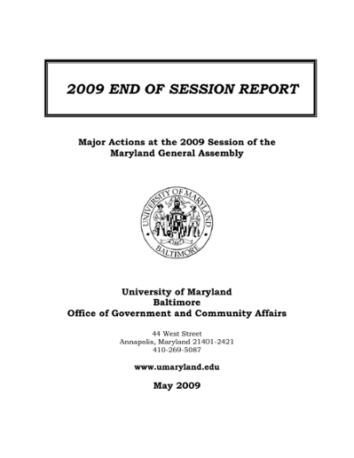 2009 End of Session Report