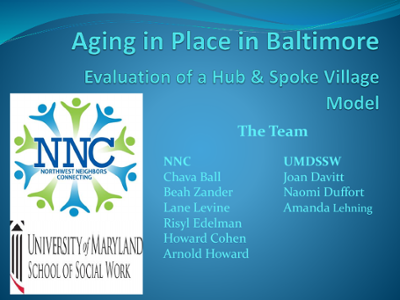 Aging in Place in Baltimore: Evaluation of a Hub and Spoke