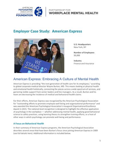American Express: Embracing a Culture of Mental Health