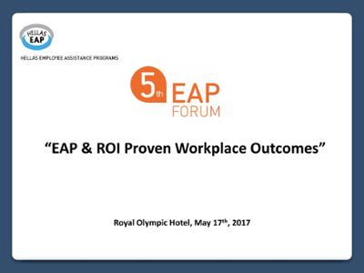 Demonstrating Value: Measuring Outcome & Mitigating Risk: FOH EAP
