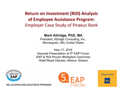 Return on Investment (ROI) Analysis of Employee Assistance