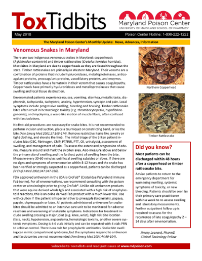 Venomous Snakes in Maryland Did you know?
