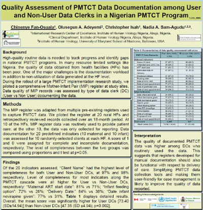Quality assessment of PMTCT data documentation among user and non