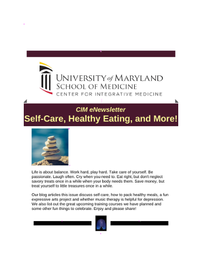 Newsletter - University of Maryland School of Medicine