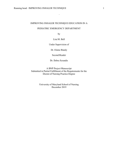 Doctor of Nursing Practice (DNP) / Master Scholarly Projects